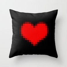 Pixel Heart Throw Pillow