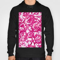 Abstract Pink Floral Hoody