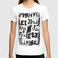 DYSLEXIE Womens Fitted Tee White SMALL