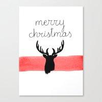 Christmas Time - Deer Ed… Canvas Print