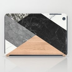 Marble and Wood Abstract iPad Case