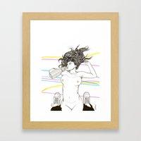 Let's Drink! Framed Art Print