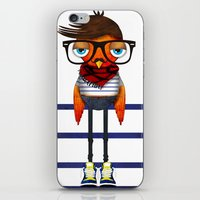 Hipster Bird iPhone & iPod Skin
