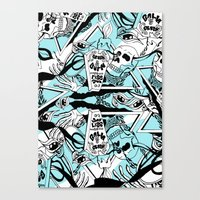 Crash & Burn Canvas Print