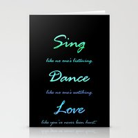 Sing, Dance, Love Stationery Cards