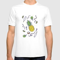 Chiang Mai White SMALL Mens Fitted Tee