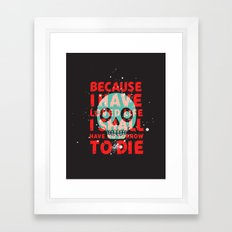 oh dang, death is all complicated and shit Framed Art Print