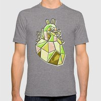 Anatomical Heart Mens Fitted Tee Tri-Grey SMALL