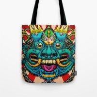 Justice Barong Mask Tote Bag