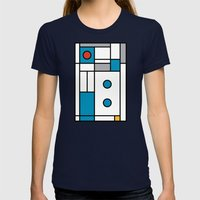 Art Too Womens Fitted Tee Navy SMALL