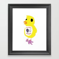 Breaking The Bad Chicken Framed Art Print
