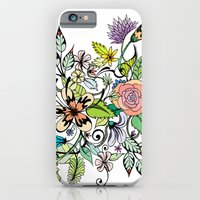 iPhone & iPod Case featuring Floral White by Maria Hegedus