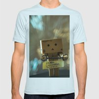 Busted Mens Fitted Tee Light Blue SMALL