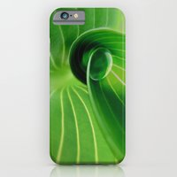 iPhone & iPod Case featuring Leaf / Hosta with Drop (2) by Lena Weiss
