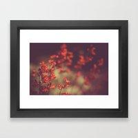 Deep Red Framed Art Print