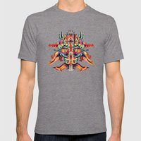 XL Mask Mens Fitted Tee Tri-Grey SMALL