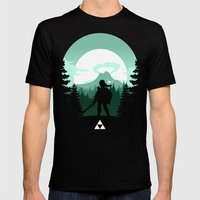 The Legend of Zelda - Green Version Mens Fitted Tee Black SMALL