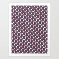 Forest Pattern ~ Cherry … Art Print