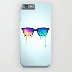 Psychedelic Nerd Glasses with Melting LSD/Trippy Color Triangles Slim Case iPhone 6s