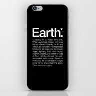 Earth.* Available For A … iPhone & iPod Skin