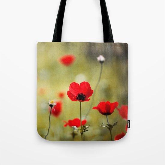 Wild Anemones Tote Bag