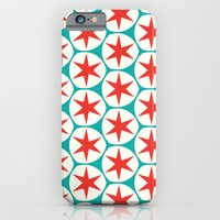 iPhone & iPod Case featuring Retro Red Stars Pattern by Stoflab