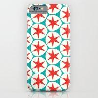 Retro Red Stars Pattern iPhone 6 Slim Case