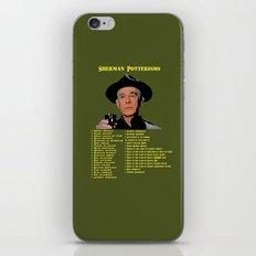 Sherman Potterisms iPhone & iPod Skin