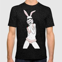 Follow the white rabbit Mens Fitted Tee Tri-Black SMALL