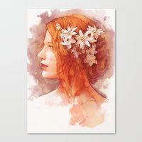 Flower scent Canvas Print