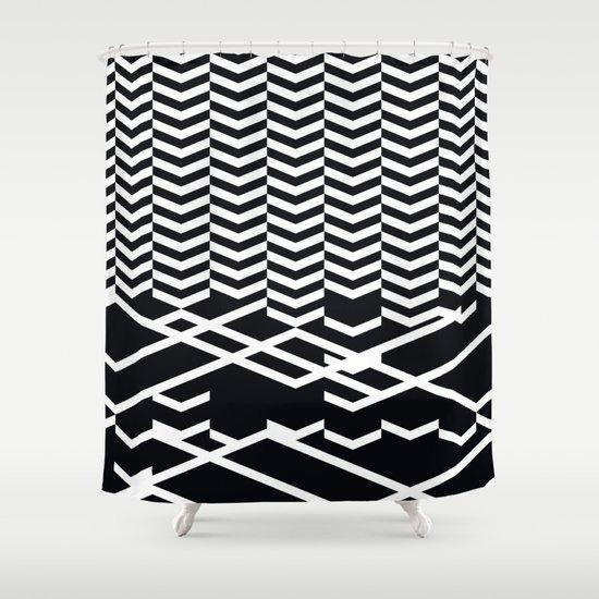 defragmentation Shower Curtain