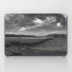 Sky and Marsh Black and white iPad Case