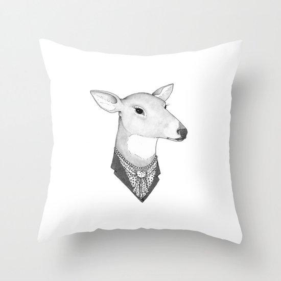 Mrs. Deer Throw Pillow