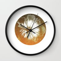 Peony III Wall Clock