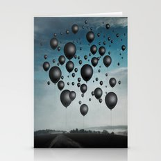 In Limbo - black balloons Stationery Cards