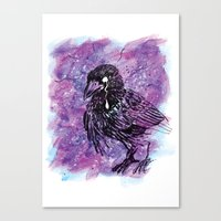 Crying Crow Canvas Print