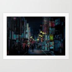 Kabukicho Nights Art Print