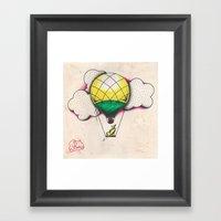 Bird Balloon Framed Art Print