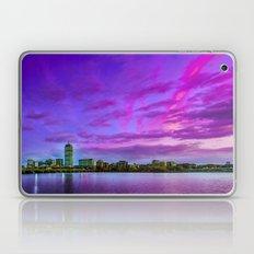 Sun dusk over Boston Laptop & iPad Skin