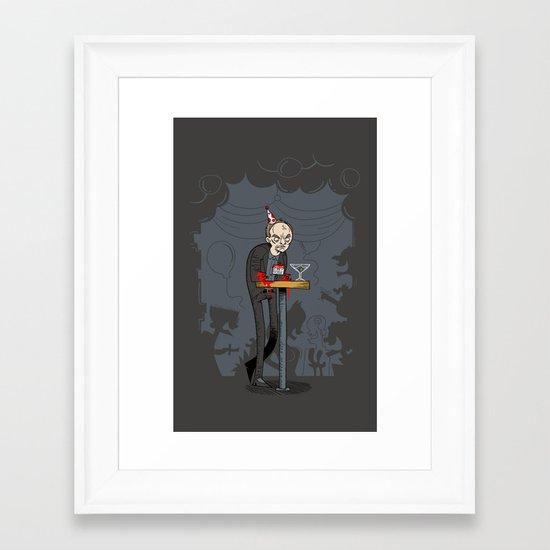 Richter at the Party Framed Art Print