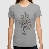 iku Tree Womens Fitted Tee Tri-Grey SMALL
