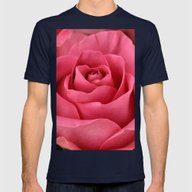 Pepto Rose Mens Fitted Tee Navy SMALL