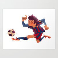 Lionel Messi, Barcelona … Art Print