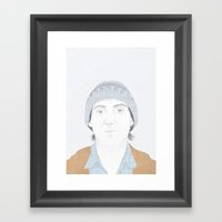 Hey There Bright Eyes Framed Art Print