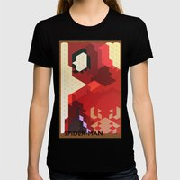 Geometric Spider-Man Womens Fitted Tee Black SMALL
