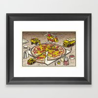 Pizza Time Framed Art Print