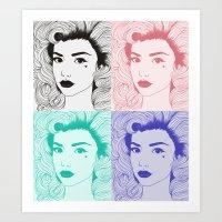 Primadonna Girl Art Print