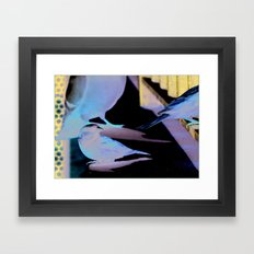 Hanging Out Framed Art Print