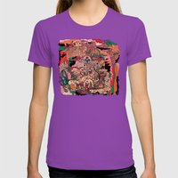 Village of Forest Womens Fitted Tee Ultraviolet SMALL
