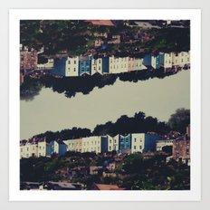 The Mirror - Digital Collage piece. Art Print